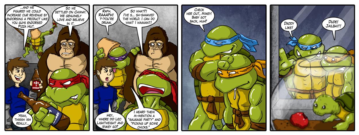 Drunken Teenage Pedo-Turtles
